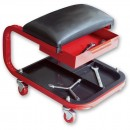Faithfull Seat On Wheels With Tray & Drawer