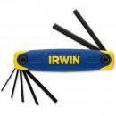 Irwin 7 Piece Folding Metric Hex Key Set
