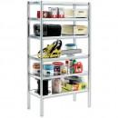 Raaco Galvanised Shelving With 6 Shelves