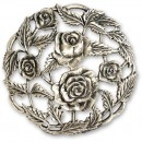 Craftprokits Pewter Lid - Rose