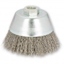 SIT 80mm Crimped Wire Cup Brush for Angle Grinders