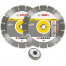 Bosch 230mm Diamond Disc Twinpack and SDS Clic Nut M14