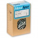 MetalSpur Bolts, M4 x 25mm (Qty 50)