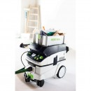 The ToolBox fits to the top of Festool extractors