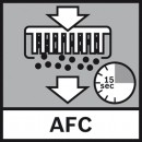 Every 15 seconds the flat pleated filter is cleaned through a reversed airflow