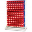 bott 1450mm Static Louvre Storage Rack 192 Red Bins