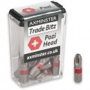 Axminster Trade Bitz Pozi PZ3 Screwdriver Bits 25mm (Pkt 10)