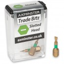 Axminster Trade Bitz TiN 4mm S/Driver Bits 25mm (Pkt 3)