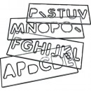 strong clear plastic letter and number templates