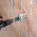 Using the Multi Construction holesaw into brick