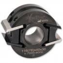 Axcaliber Aluminium Cutter Head - 100mm Diameter, 30mm Bore