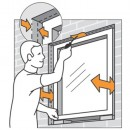 2 - Adjust to make flush to frame or wall