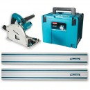 Makita SP6000J1 Plunge Saw & 2 x 1.4m Rail - 110V