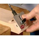 Drill jig fits into the Clamex slot and allows for accurate drilling of the 6mm hole for the hex key.