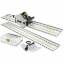 Festool TS55REBQ-Plus FS Plunge Saw, 2 rails and Accessory Kit 230V