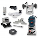Bosch GKF 600 Palm Router Kit and TE 600 Plunge Base 230V