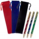 3 Art Deco Style Twist Pens & Velvet Drawstring Cases - PACKAGE DEAL