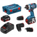 Bosch GSR 18 V-EC FC2 Drill with Offset & Angle Attachment 2 Batt Kit 18V