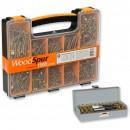 WoodSpur Pozi Wood Screws & 28 Pce TiN Bit Set - PACKAGE DEAL