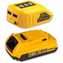 DeWALT DCB183 Li-Ion Battery & DCB090 USB Charger Adaptor 18V (2.0Ah)