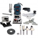 Bosch GKF 600 Router Kit + Cutter Set - 230V