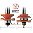 "CMT Stile & Rail Router Cutter Set - 1/2"" Shank"