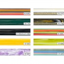 Decorative Polyester Pen Blanks - Cool Stripe, 20 mm - Round