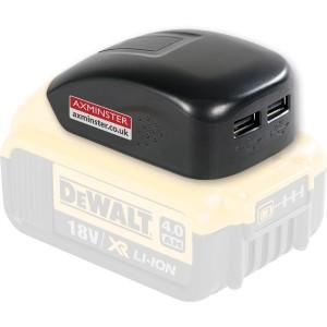 Axminster USB Charger Adaptor for DeWALT Power Tool Battery Packs