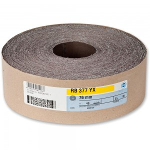 Hermes RB377YX Abrasive Roll 76mm x 25m
