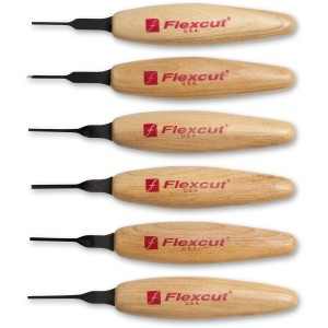 Flexcut 6 Piece 1.5mm Mixed Profile Micro Tool Set