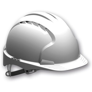 JSP EVO2 Safety Helmet with Slip Ratchet - White