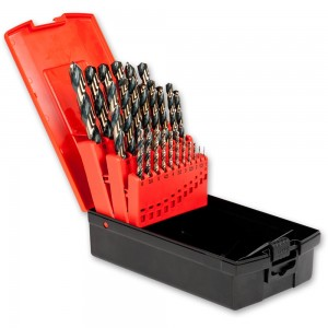 Axminster 25 Piece 1.0-13 x 0.5mm HSS Drill Set Two Tone