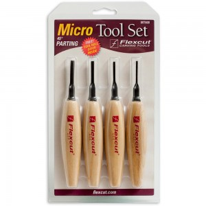 Flexcut 4 Piece 45 Degree Parting Micro Tool Set