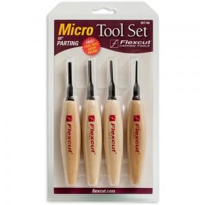 Flexcut 4 Piece 60 Degree Parting Micro Tool Set