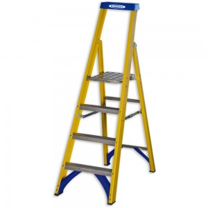 Werner Trade Fibreglass Platform Stepladder