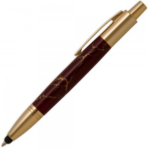 Vesper Gold Click Pen with Stylus Tip
