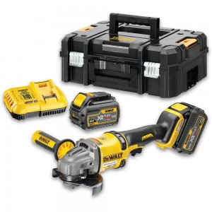 DeWALT DCG414T2 XR FLEXVOLT 125mm Grinder 2 x 54V Batteries