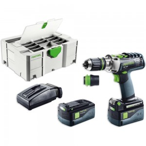 Festool PDC 18/4 Li 5.2 PLUS Combi Drill AIRSTREAM 18V