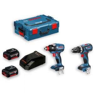 Bosch GSB 18 V-EC & GDX 18 V-EC Brushless Kit 18V (2 x 5.0Ah)