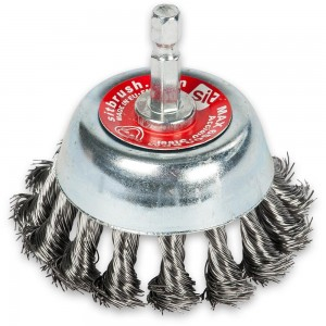 Twisted Steel 70mm Wire Cup Brush with Hex Shank
