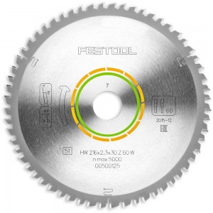 Festool W60 216mm TCT Saw Blade