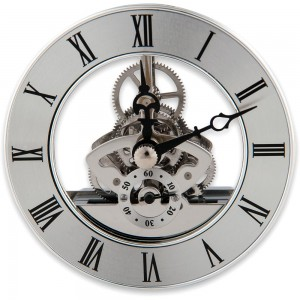 Craftprokits 86mm Silver Skeleton Clock