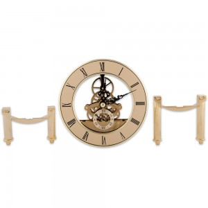 Craftprokits 126mm Gold Skeleton Clock
