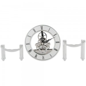 Craftprokits 126mm Silver Skeleton Clock