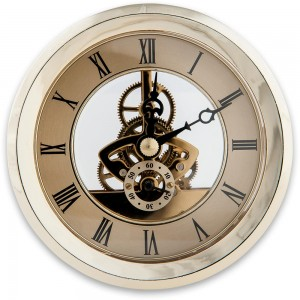 Craftprokits 100mm Gold Skeleton Clock Insert