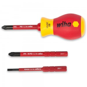 Wiha 4 Piece VDE Stubby Screwdriver Set