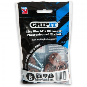 GripIt 20mm Plasterboard Fixings Brown (Pkt 8)