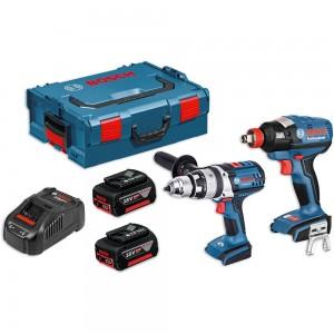 Bosch GSB 18 VE-2-LI Combi & GDX 18 V-EC 18V Impact Kit (5.0Ah)