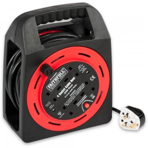 Faithfull Easy Rewind 4-Way Socket Cable Reel 20m 10A 230V