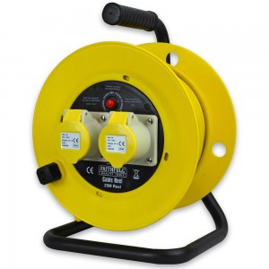 Faithfull Cable Reel 25m 16A 1.5mm Cable 110V